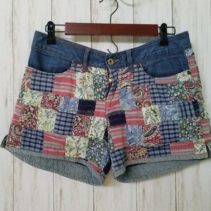 Lucky Brand Women's Patchwork Denim Shorts
